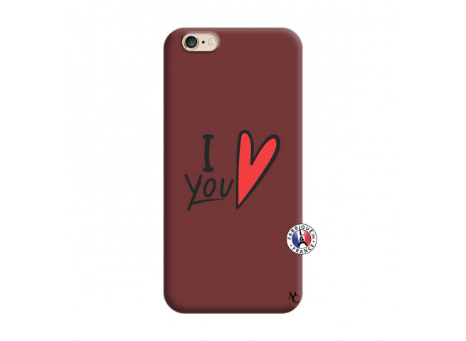 Coque iPhone 6/6S I Love You Silicone Bordeaux