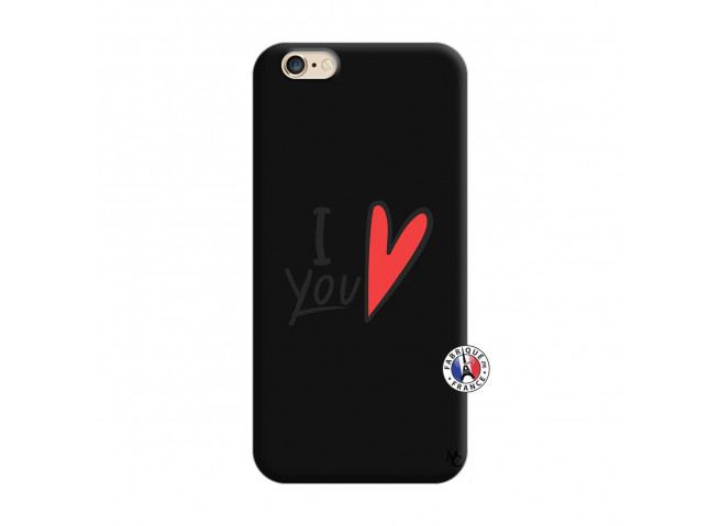 Coque iPhone 6/6S I Love You Silicone Noir
