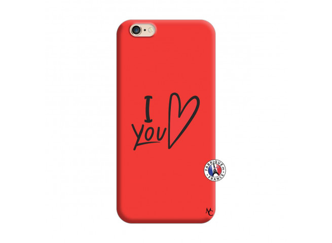 Coque iPhone 6/6S I Love You Silicone Rouge