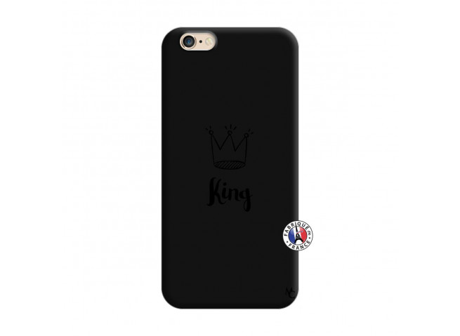 Coque iPhone 6/6S King Silicone Noir