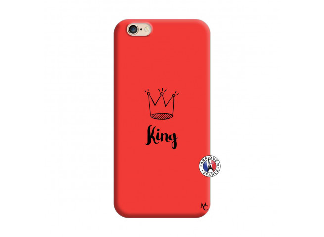 Coque iPhone 6/6S King Silicone Rouge