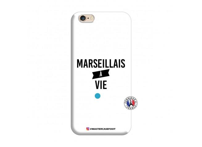 Coque iPhone 6/6S Marseillais à Vie Silicone Blanc