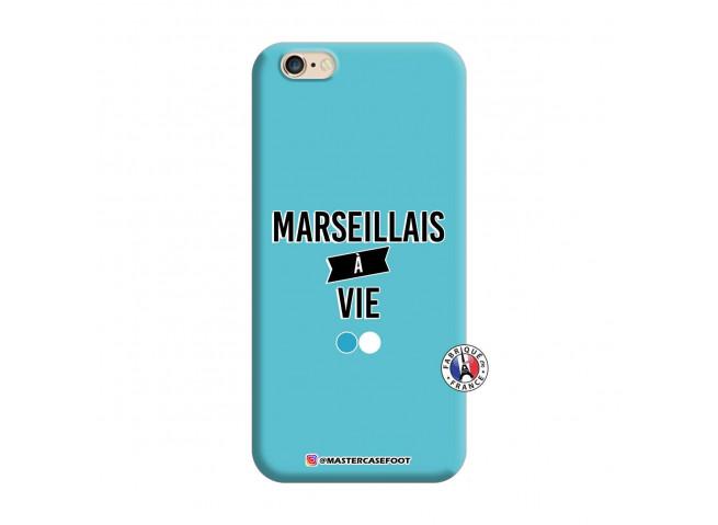 Coque iPhone 6/6S Marseillais à Vie Silicone Bleu