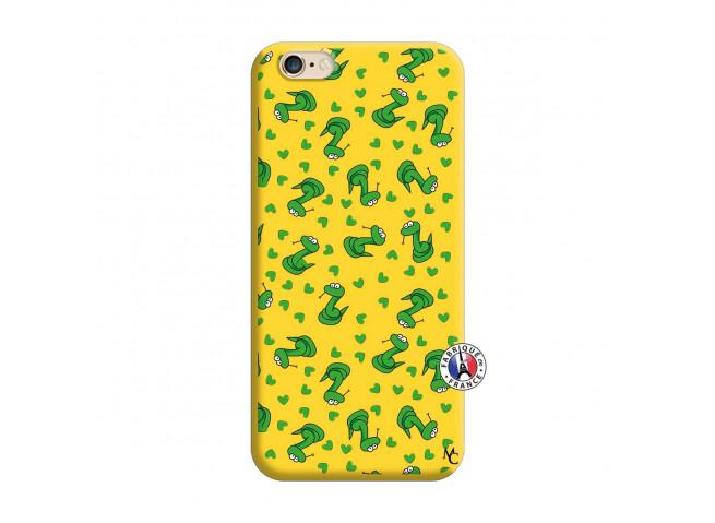 Coque iPhone 6/6S Petits Serpents Silicone Jaune