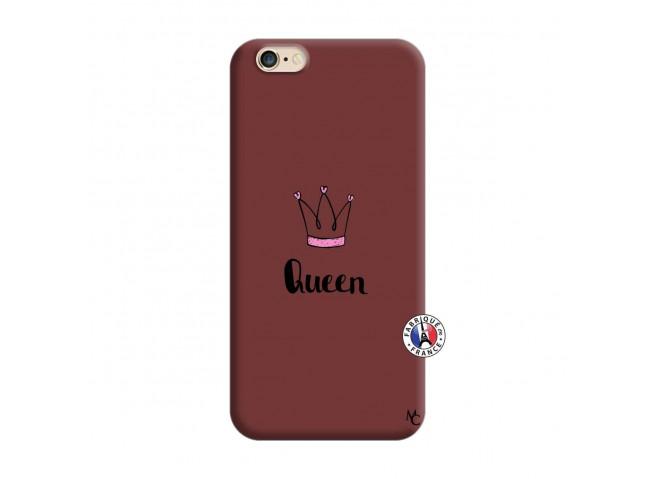 Coque iPhone 6/6S Queen Silicone Bordeaux