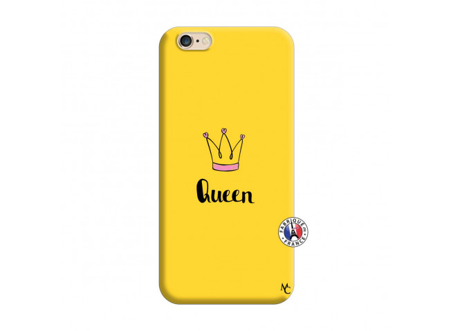 Coque iPhone 6/6S Queen Silicone Jaune