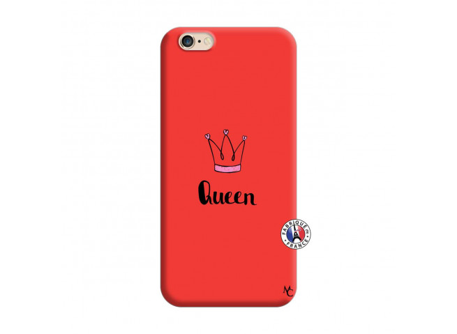 Coque iPhone 6/6S Queen Silicone Rouge