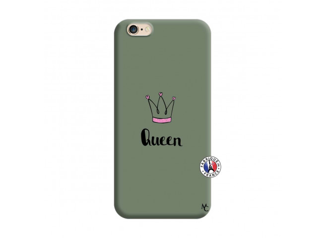 Coque iPhone 6/6S Queen Silicone Vert
