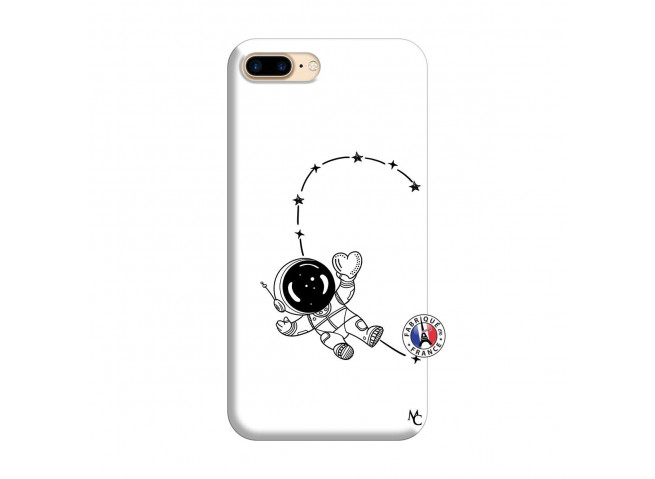 Coque iPhone 7 Plus/8 Plus Astro Girl Silicone Blanc