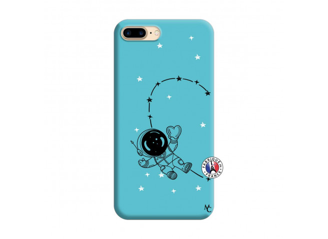 Coque iPhone 7 Plus/8 Plus Astro Girl Silicone Bleu