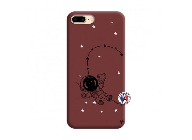 Coque iPhone 7 Plus/8 Plus Astro Girl Silicone Bordeaux