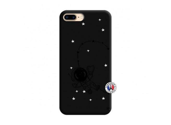 Coque iPhone 7 Plus/8 Plus Astro Girl Silicone Noir