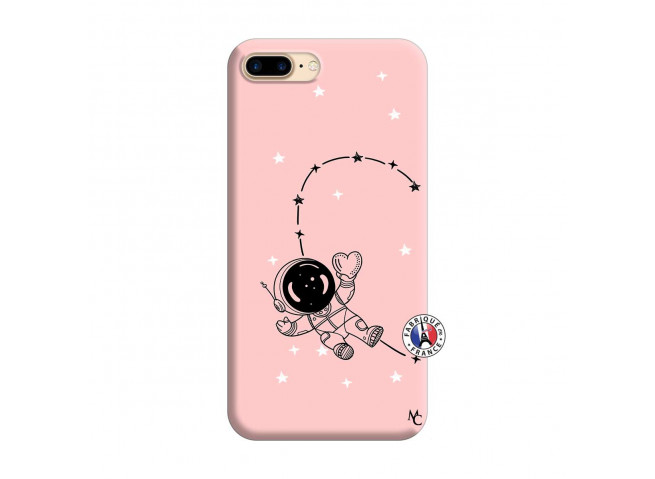 Coque iPhone 7 Plus/8 Plus Astro Girl Silicone Rose