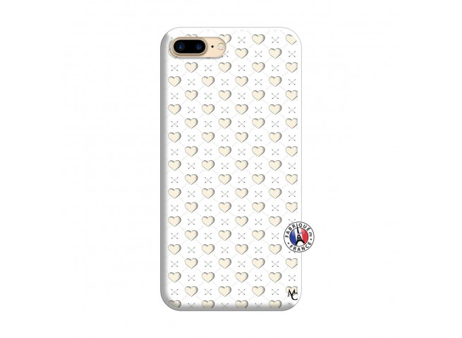 Coque iPhone 7 Plus/8 Plus Little Hearts Silicone Blanc