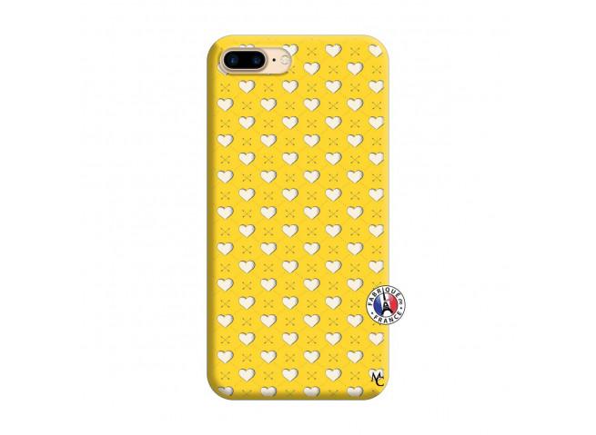Coque iPhone 7 Plus/8 Plus Little Hearts Silicone Jaune