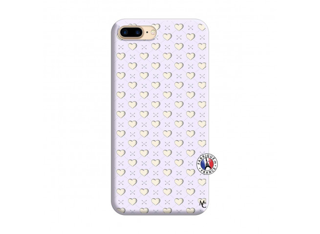 Coque iPhone 7 Plus/8 Plus Little Hearts Silicone Lilas