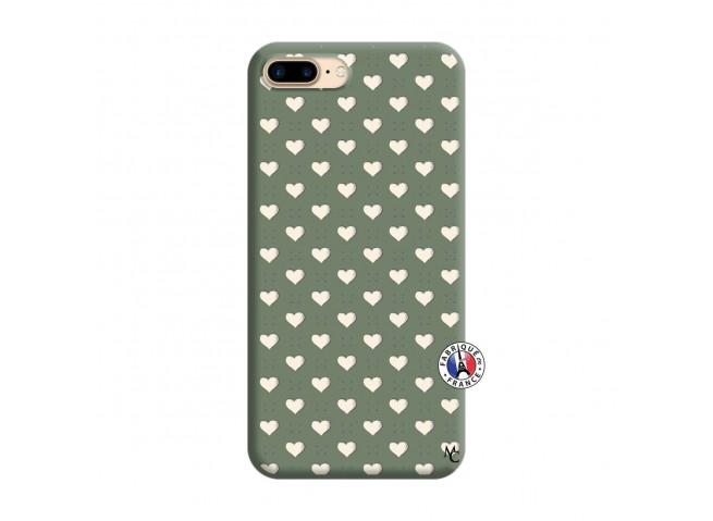 Coque iPhone 7 Plus/8 Plus Little Hearts Silicone Vert