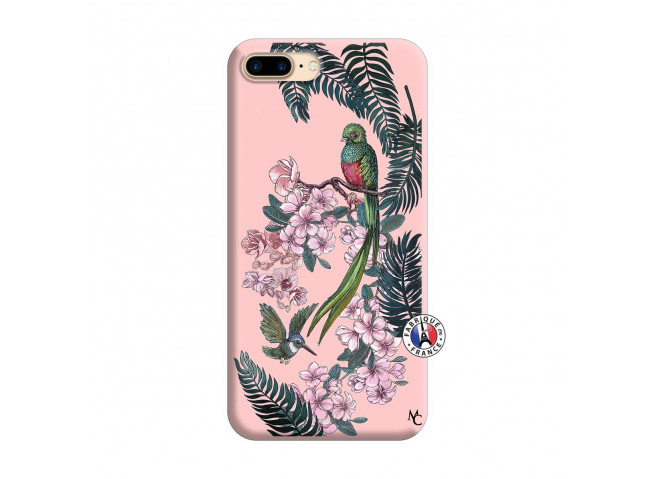 Coque iPhone 7 Plus/8 Plus Flower Birds Silicone Rose