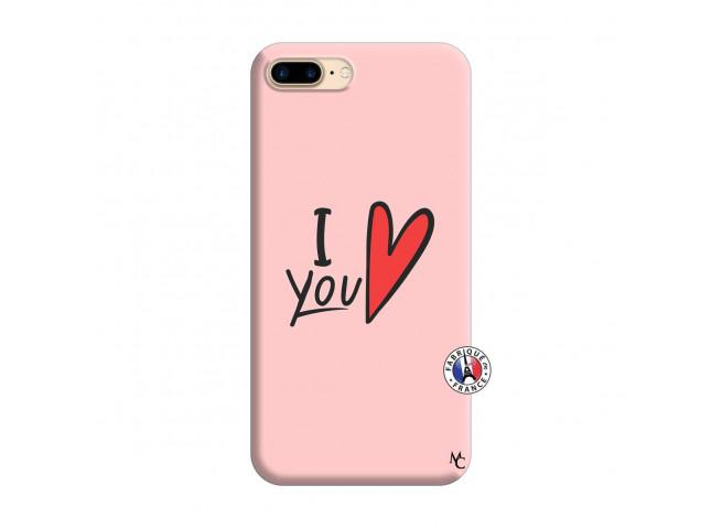 Coque iPhone 7 Plus/8 Plus I Love You Silicone Rose