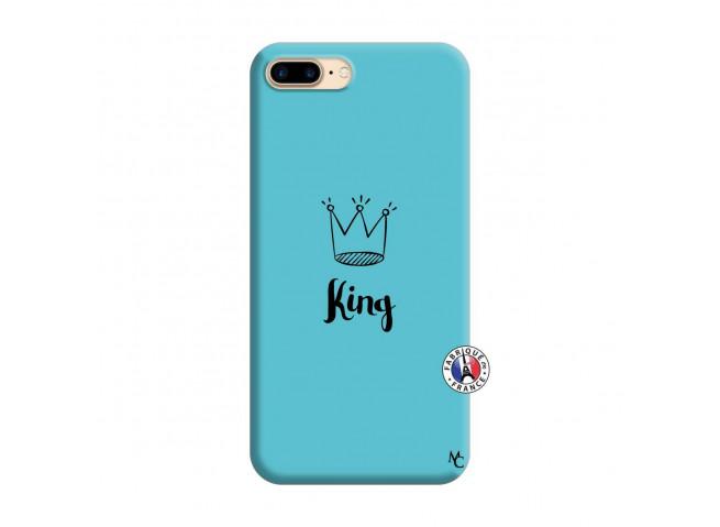 Coque iPhone 7 Plus/8 Plus King Silicone Bleu