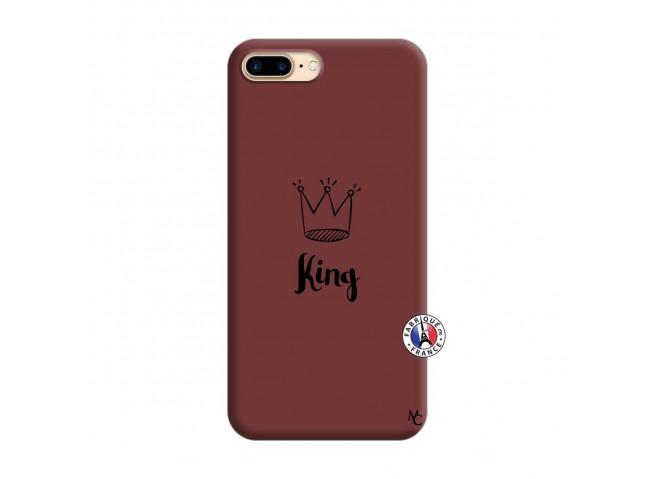 Coque iPhone 7 Plus/8 Plus King Silicone Bordeaux