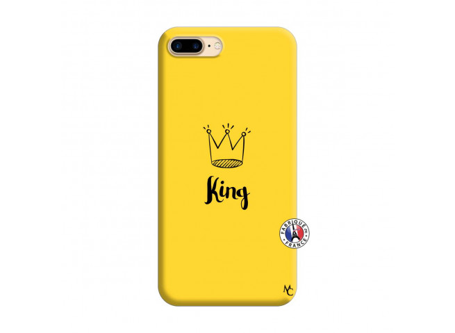 Coque iPhone 7 Plus/8 Plus King Silicone Jaune