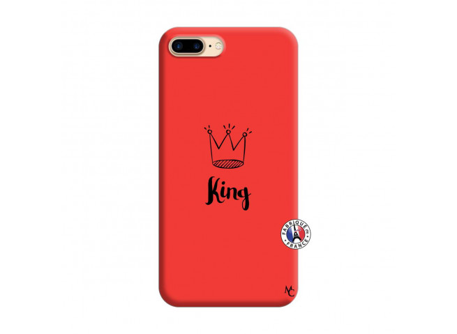 Coque iPhone 7 Plus/8 Plus King Silicone Rouge