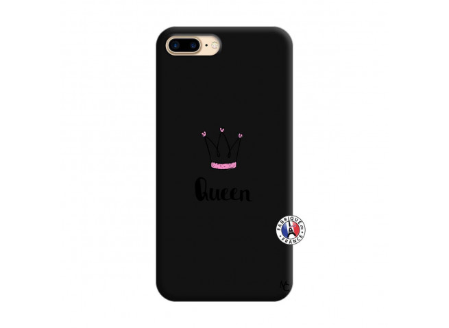 Coque iPhone 7 Plus/8 Plus Queen Silicone Noir