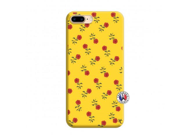Coque iPhone 7 Plus/8 Plus Rose Pattern Silicone Jaune