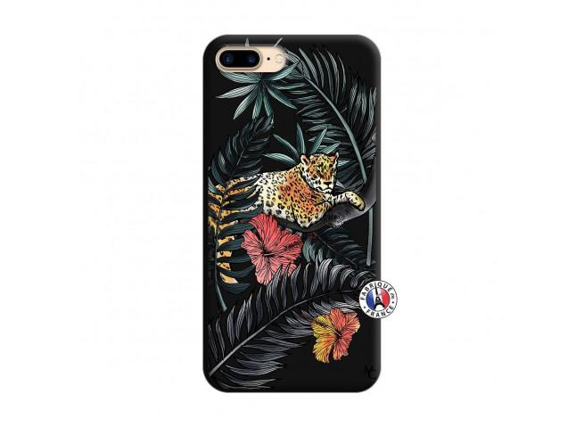 Coque iPhone 7 Plus/8 Plus Leopard Tree Silicone Noir