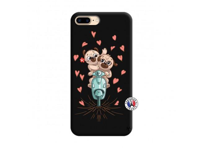 Coque iPhone 7 Plus/8 Plus Puppies Love Silicone Noir