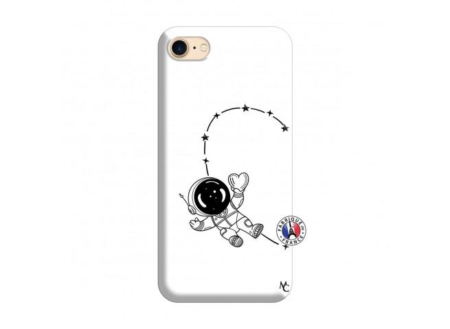 Coque iPhone 7/8 Astro Girl Silicone Blanc