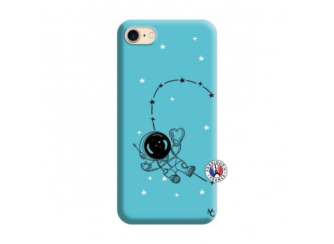 Coque iPhone 7/8 Astro Girl Silicone Bleu