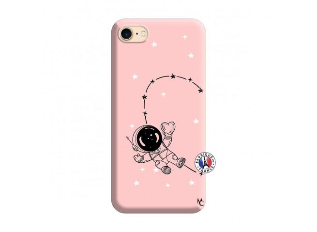 Coque iPhone 7/8 Astro Girl Silicone Rose