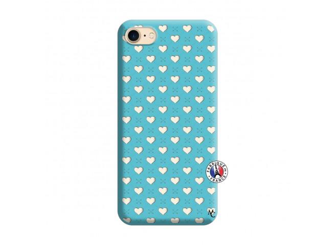 Coque iPhone 7/8 Little Hearts Silicone Bleu