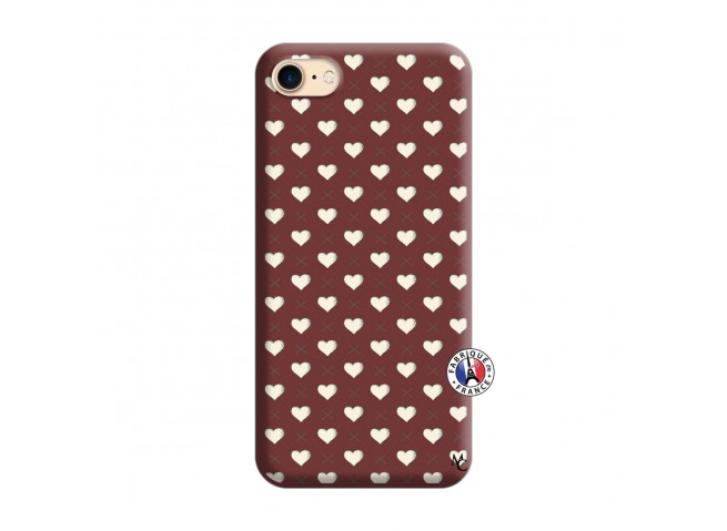 Coque iPhone 7/8 Little Hearts Silicone Bordeaux
