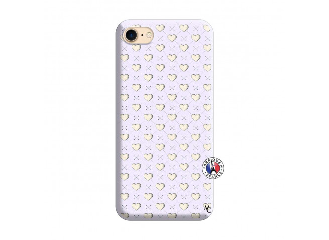 Coque iPhone 7/8 Little Hearts Silicone Lilas