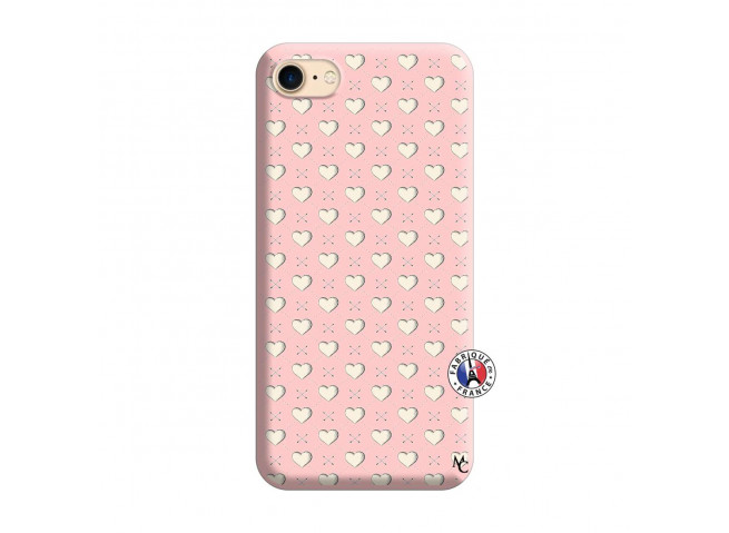 Coque iPhone 7/8 Little Hearts Silicone Rose