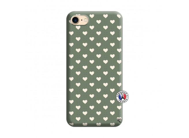 Coque iPhone 7/8 Little Hearts Silicone Vert
