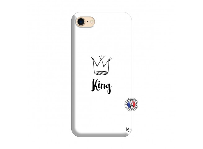 Coque iPhone 7/8 King Silicone Blanc