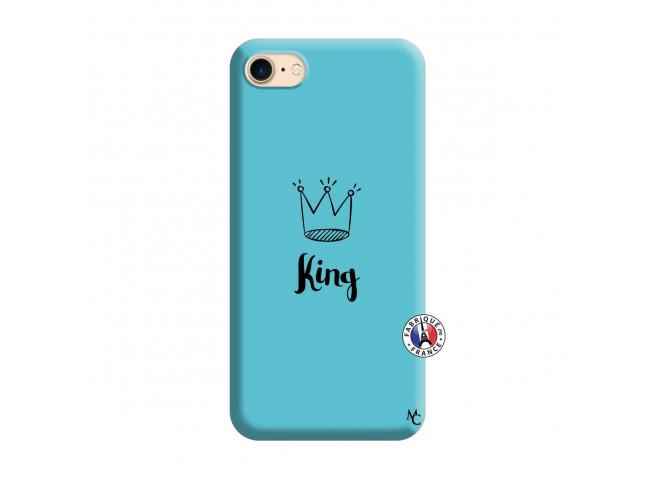 Coque iPhone 7/8 King Silicone Bleu