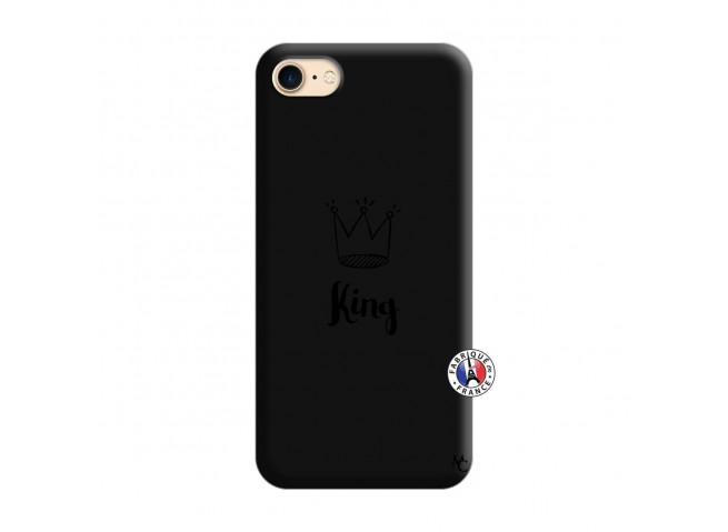 Coque iPhone 7/8 King Silicone Noir