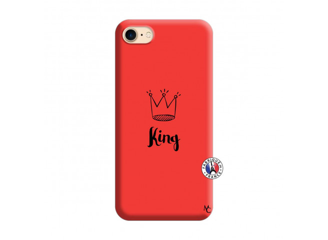 Coque iPhone 7/8 King Silicone Rouge