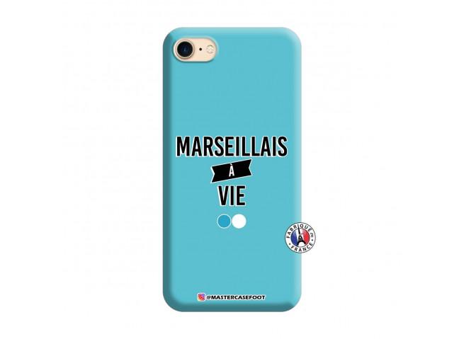 Coque iPhone 7/8/SE 2020 Marseillais à Vie Silicone Bleu