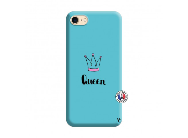 Coque iPhone 7/8 Queen Silicone Bleu