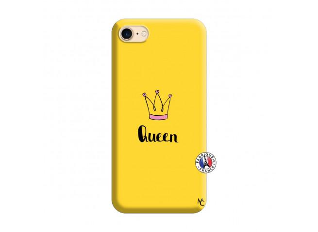 Coque iPhone 7/8 Queen Silicone Jaune