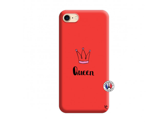 Coque iPhone 7/8 Queen Silicone Rouge