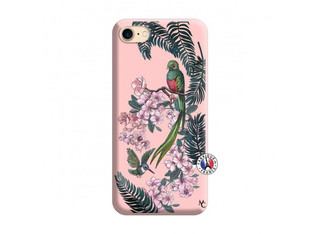 Coque iPhone 7/8/se 2020 Flower Birds Silicone Rose
