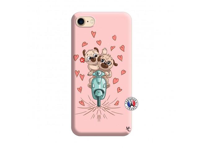Coque iPhone 7/8/se 2020 Puppies Love Silicone Rose