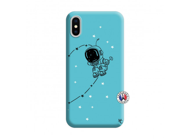 Coque iPhone X/XS Astro Boy Silicone Bleu
